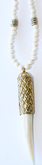 Boho Beads Tooth Necklace