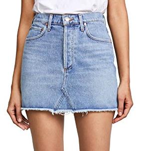 AGOLDE Quinn High Rise Mini Denim Skirt