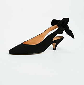 Ganni Bow Slingback Pumps