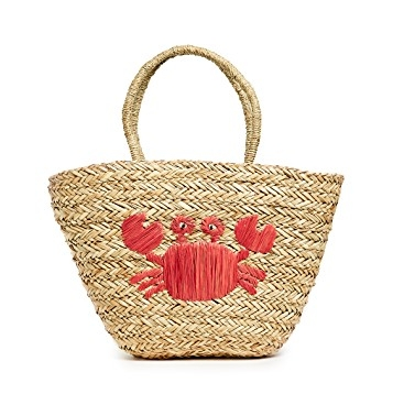 Hat Attack Crab Beach Tote