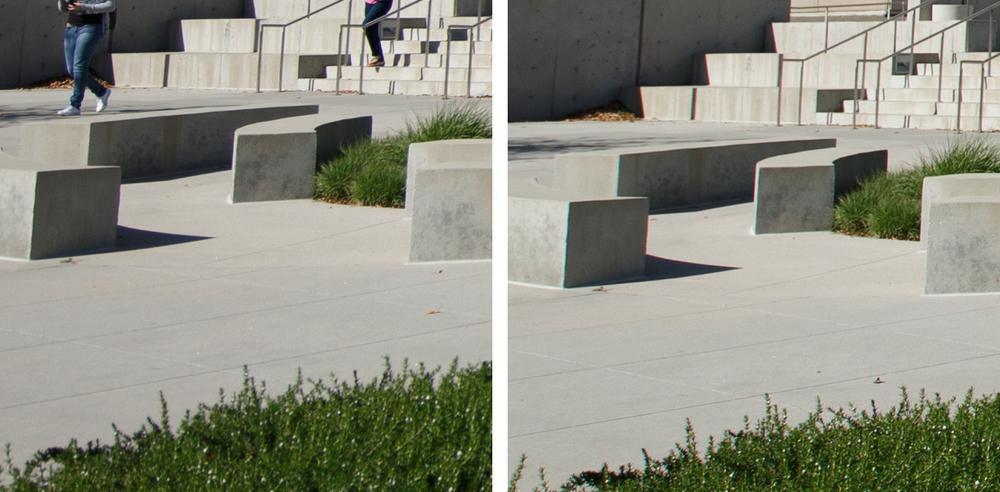 Corner Comparison @ f/4: 11-24 f/4L (Left) vs 16-35 f/2.8L II (Right)