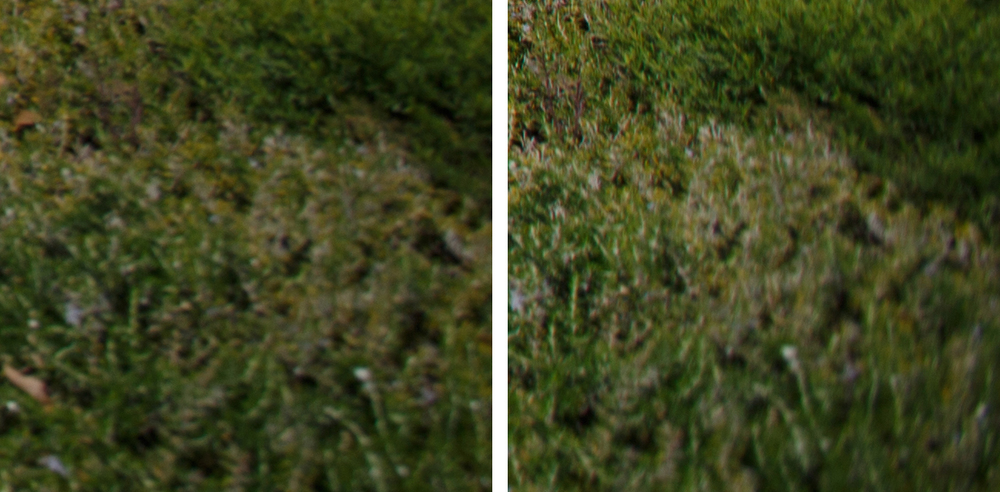 Extreme Corner Comparison @ f/4: 11-24 f/4L (Left) vs 16-35 f/2.8L II (Right)