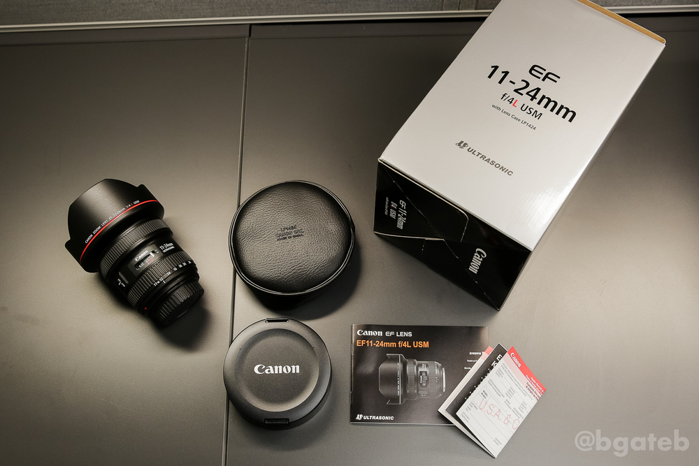Canon EF 11-24mm f/4L USM Box Contents (USA Warranty)