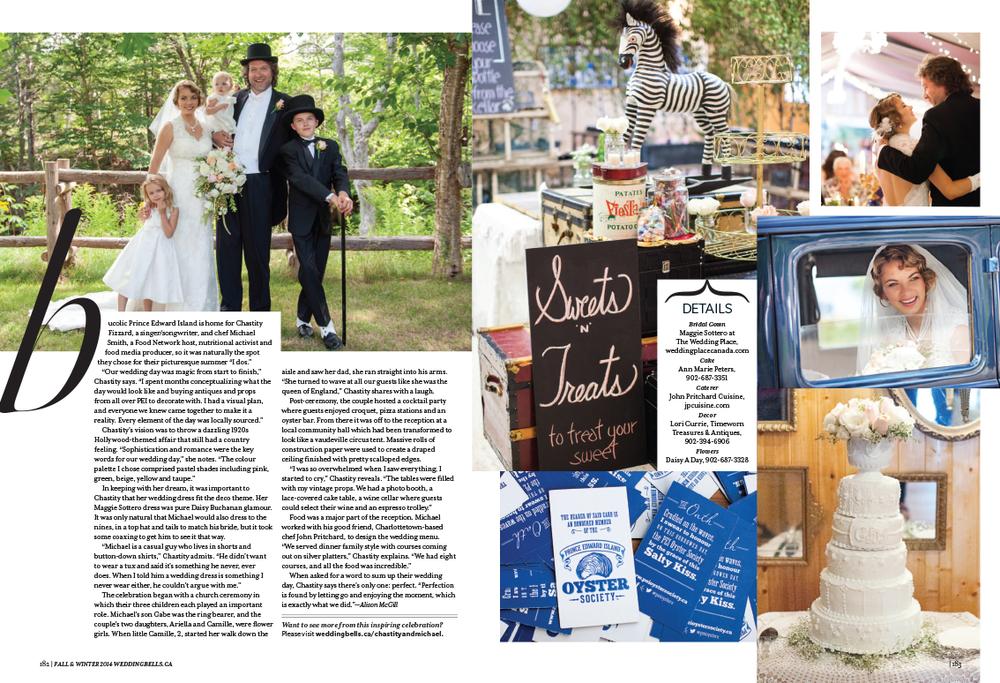 Wedding Bells Magazine Chef Michael Smith Chastity Fizzard