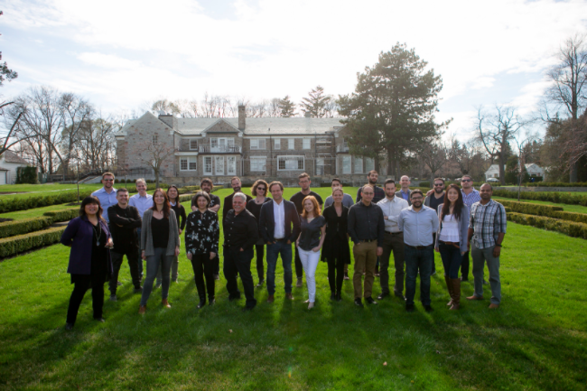 Friday, April 29: Day One of the accelerator journey. Against the backdrop of Downton Abbey (aka CFC headquarters), founders and mentors pause for a brief photo.