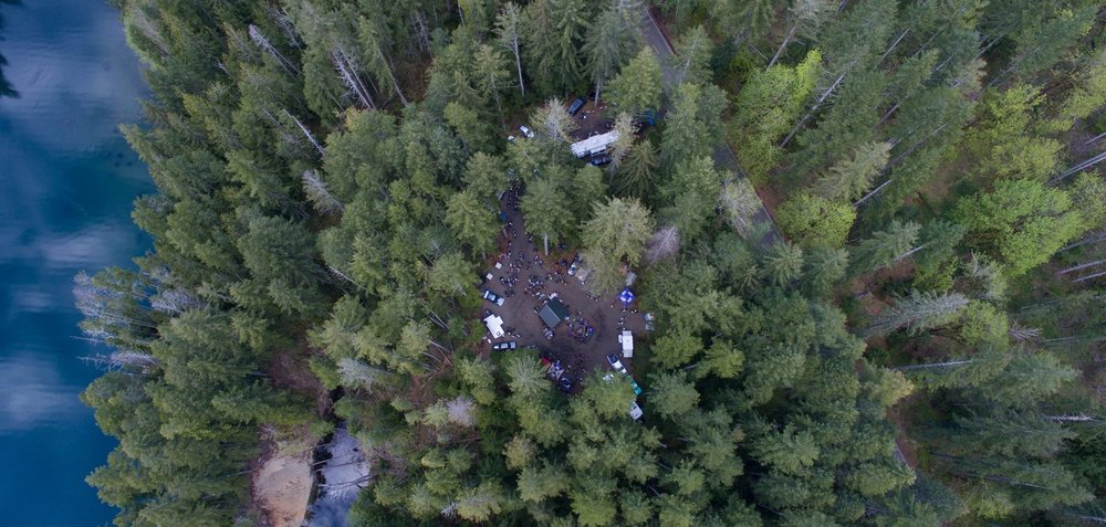 Our group site, as seen from the sky by Jackson Carpenter