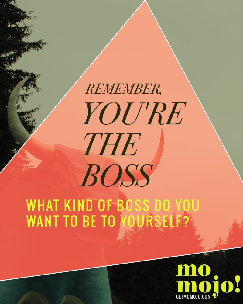 When you're self-employed, you're the boss, but are you being a good one to yourself? Are you creating a good work environment with lots of rewards, or are you overly critical and have too high of expectations of yourself? This post will help you dig into thinking about what kind of boss you want to be to yourself!