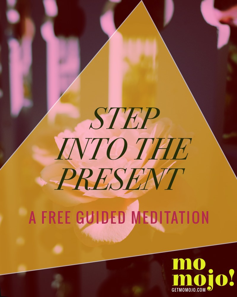 This free guided mo mojo meditation will help you GET OUT OF YOUR HEAD by helping you get into your body and into the present moment. Take a 16 min respite and pause from your busy day to give back to yourself, get out of the sea of thoughts for awhile and find some clarity and centeredness. Hope you enjoy!