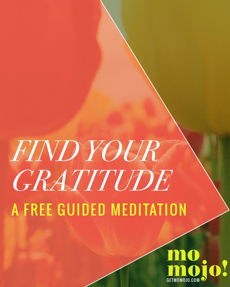 This free guided meditation will help you relax and lead you through prompts to get you thinking about all you have to be grateful for. Gratitude is one of the absolute best practices you can do to get out of your head, out of the negativity and funk and start to see the good that's all around you and within you. Take a 10 minute self-care break and click to give the meditation a listen ->