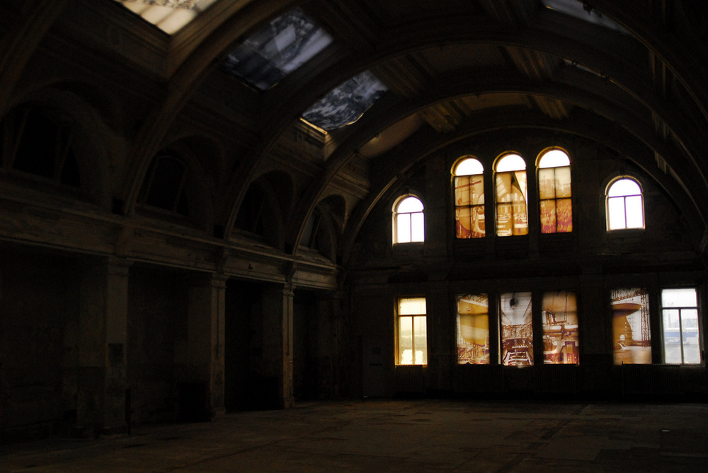 The abandoned drawing room of Harland & Wolff in Belfast, Ireland. The RMS Titanic was designed here, the room once serving as an airy, light-filled sanctuary for a team of talented draftsmen.