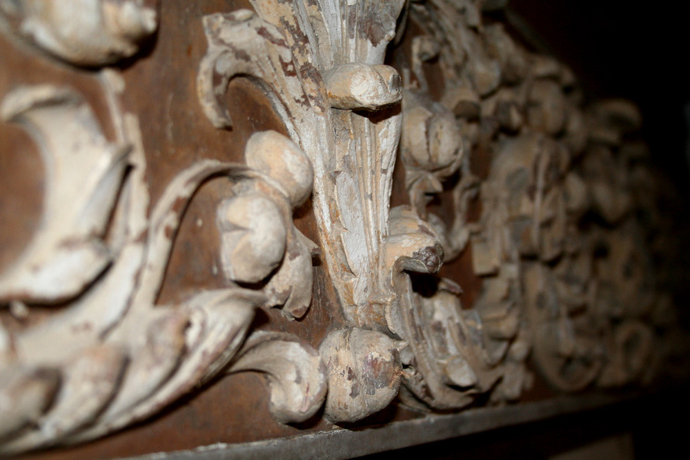 One of the few surviving pieces of Oceanic's  hand-crafted woodwork. Photo Credit: Helen Hadley