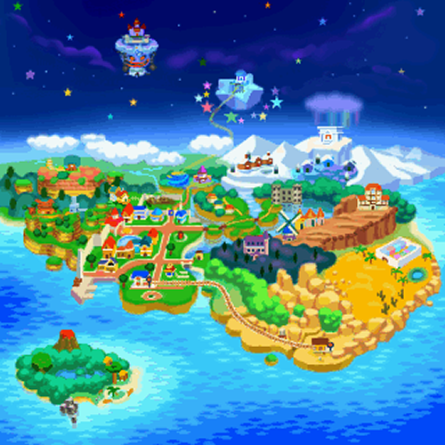 The overworld map for Paper Mario. Credit: Nintendo