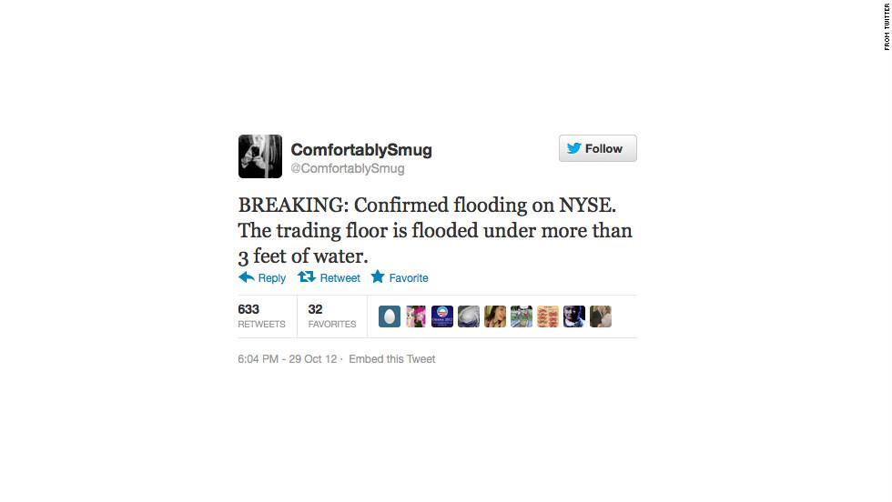False news on Twitter during Superstorm Sandy.