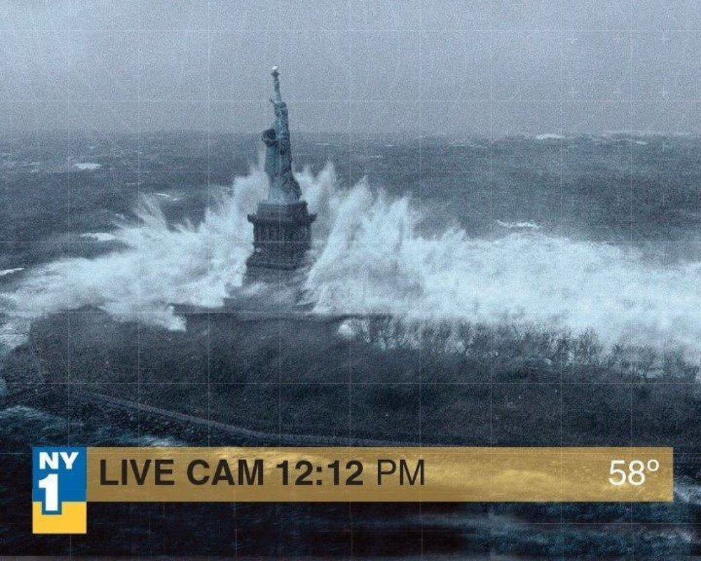 Fake Superstorm Sandy picture that was taken from a doomsday Hollywood movie.