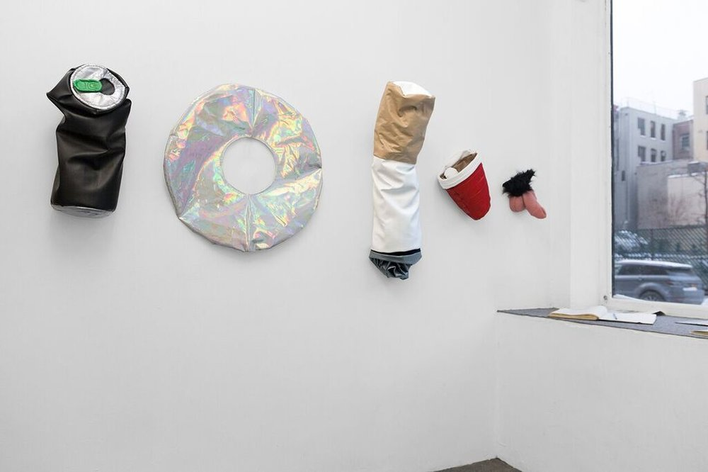"Installation view, ""Pillows"" at 56 Henry"