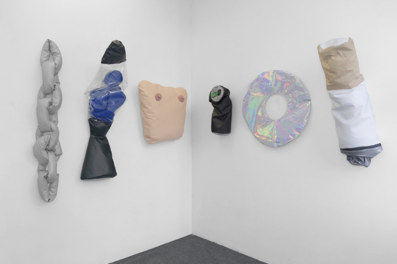 "Installation view of ""Pillows"" at 56 Henry"