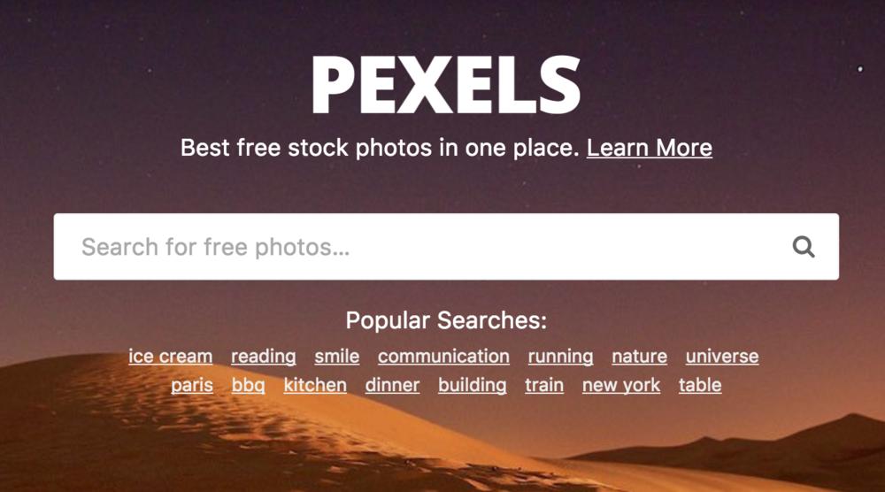 Get Pexels