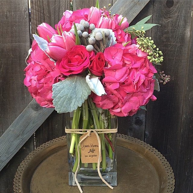 Valentine for CBS studio #valentinesdayfloral #losangeles #hollywood #rose #hydrangea #tulip