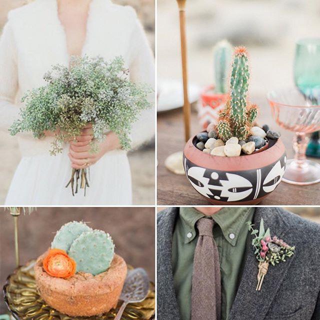 Lovelies from The Bohemian Desert Wedding Shoot on @100_layercake @finchevents @fernandbone @theblushingbird @anyakernes #losangelesflorist #junebloomfloral #sandiegoflorist #cacti
