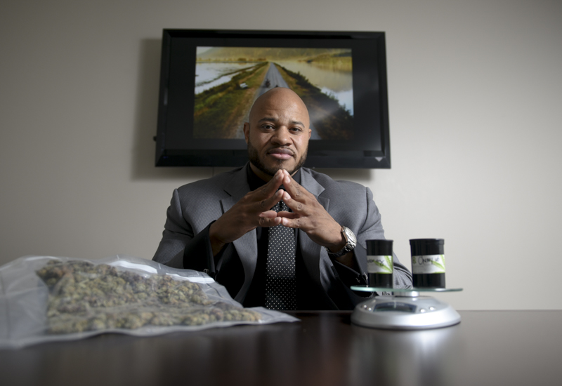"""Jay Timms is a licensed medicinal marijuana cultivator and dispenary owner. He entered the medical field through the pharmaceutical industry, and saw how opioid addiction continued to increase. """"When you look at the medicinal purposes and the pain relieving factors of medicinal marijuana, you're not actually going to have that,"""" Timms said while explaining how marijuana is a safer alternative to prescription medication. Timms did not believe in the medicinal properties of marijuana until he attended a neurology conference in Vancouver over two years go, and continued to do clinical research on his own. He saw that marijuana did have analgesic as well as anti-imflammatory effects, and has since grown his business."""