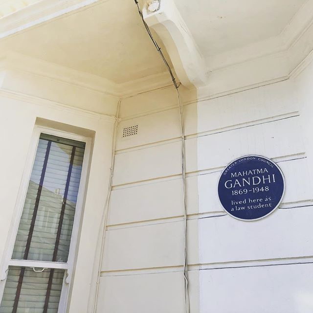 We live right down the street from where Ghandi used to live as a law student. You can walk past this if you get off the Piccadilly line at Baron's court and see the distinctive plaque. Before he became a famous leader of the Indian independence movement, Ghandi studied at the University College London. Marcus Garvey, another important civil rights activist, lived a couple streets away in the early 1900's.