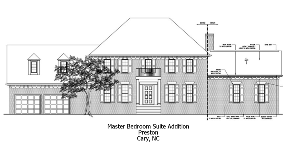Master Bedroom Suite - Addition - Preston Neighborhood - Cary, NC