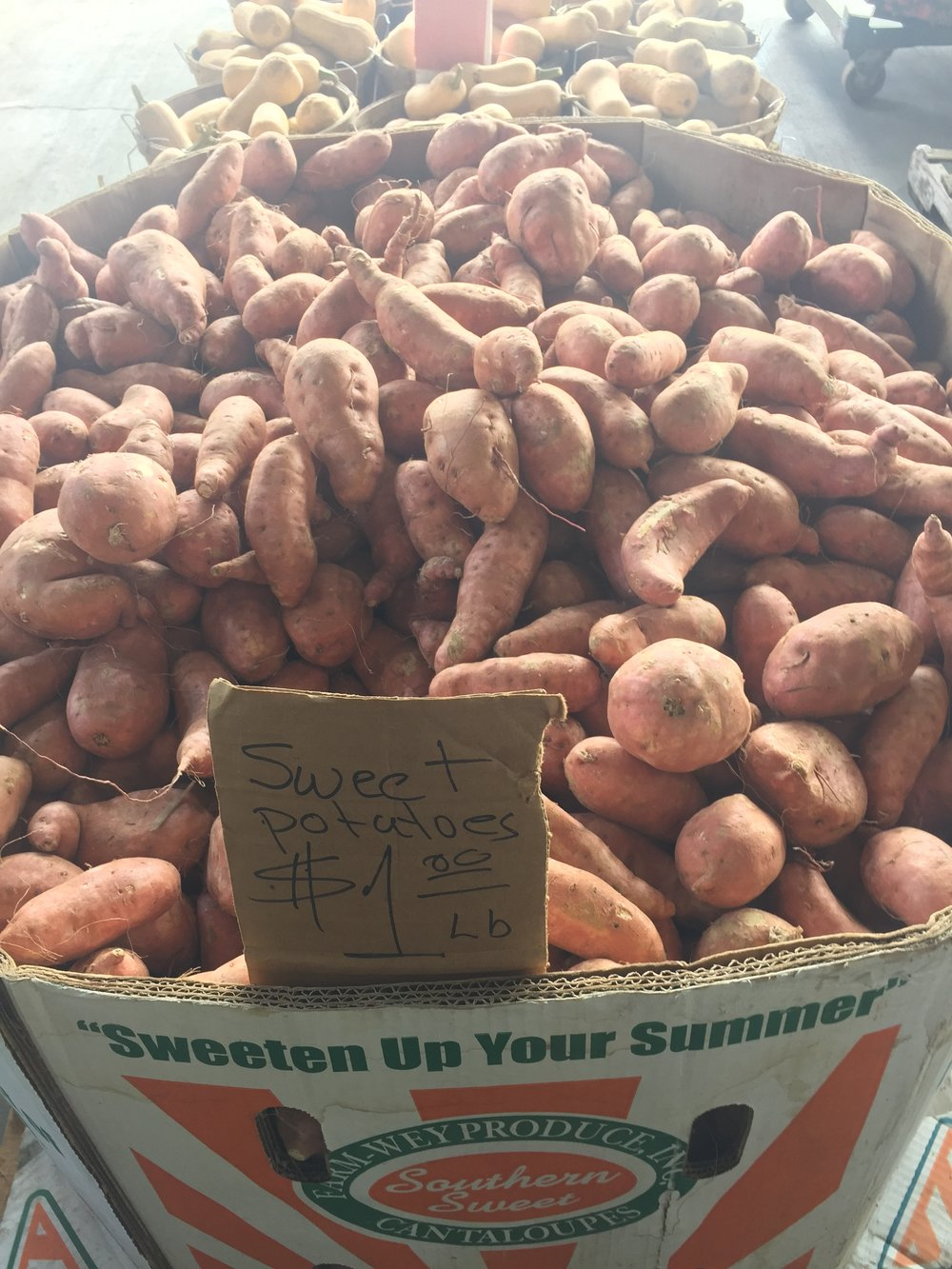 The sweetest potatoes from Smileys Farm