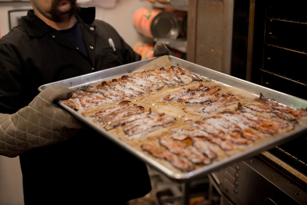 Crispy Bacon Straight Out of the Oven  - The Grilled Cheeserie | Nashville, TN