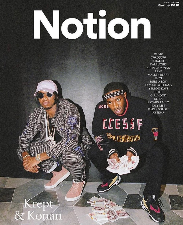 Krept and Konan for Notion magazine