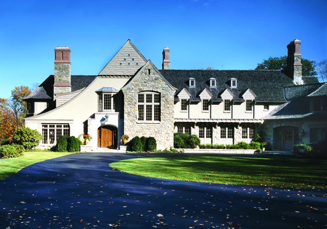Custom-home-stone-shinge-tudor-greenwich-ct