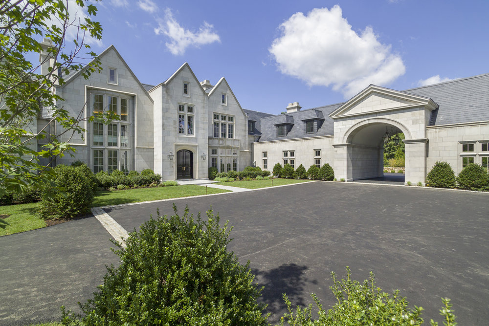Davenport custom limestone home greenwich ct for Connecticut home builders