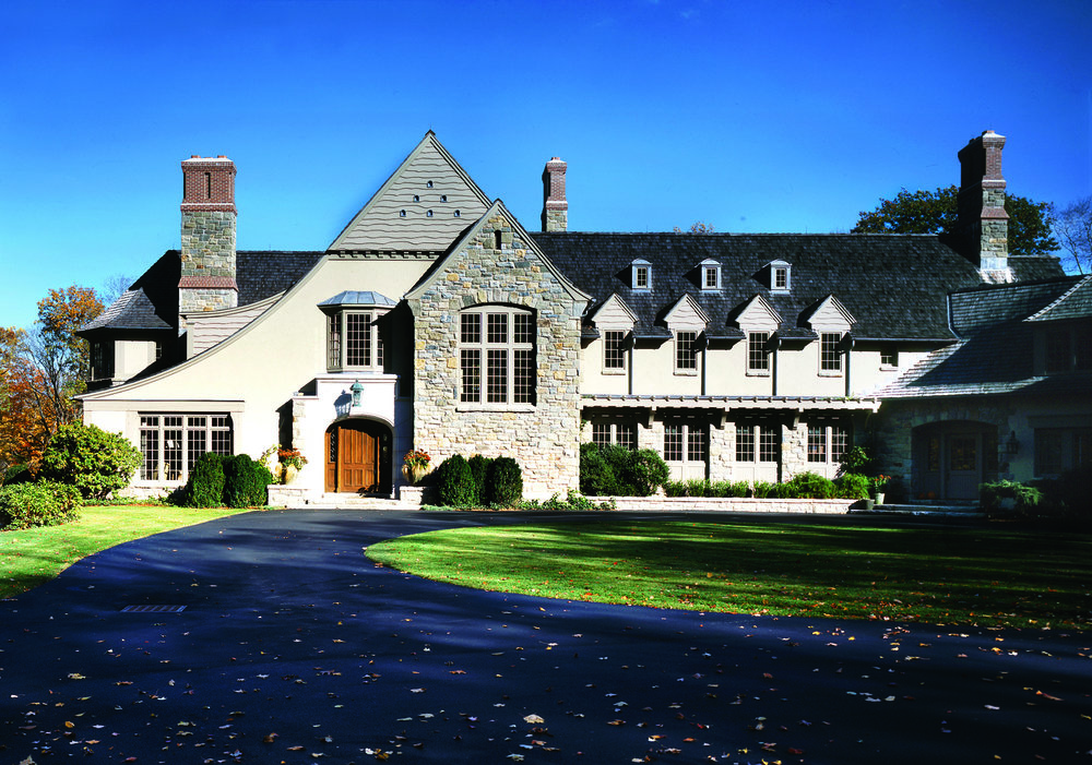 Greenwich ct home builder stone shingle tudor davenport for Building a house in ct