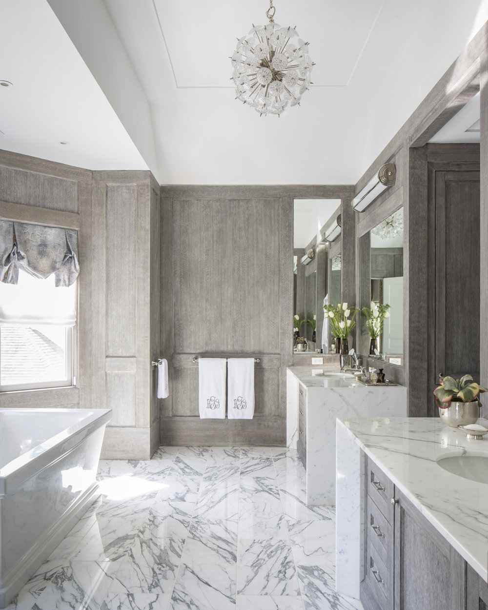 Bathroom Master Marble Old Greenwich Ct Interior W.