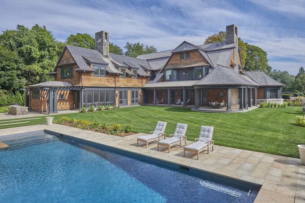New Shingle Style with Modern Interiors, Westport CT