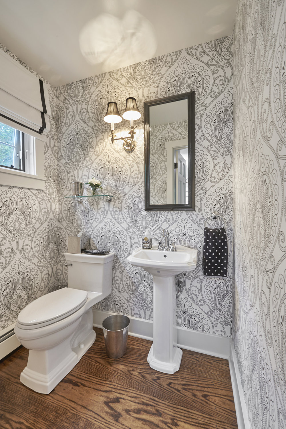 Renovated Powder Room, Redding, CT