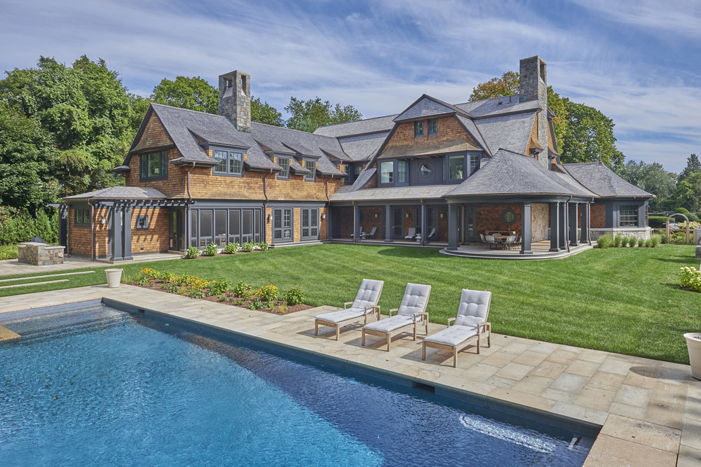 Shingle-new-construction-pool-patio-exterior-westport-ct-w
