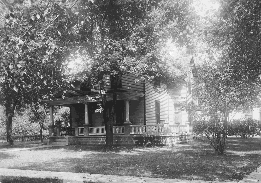 "This photo is from the Madison County Historical Society's ""Saddle Album"" donated by the Nelson family. This photo of 409 Jefferson was taken before 1920."