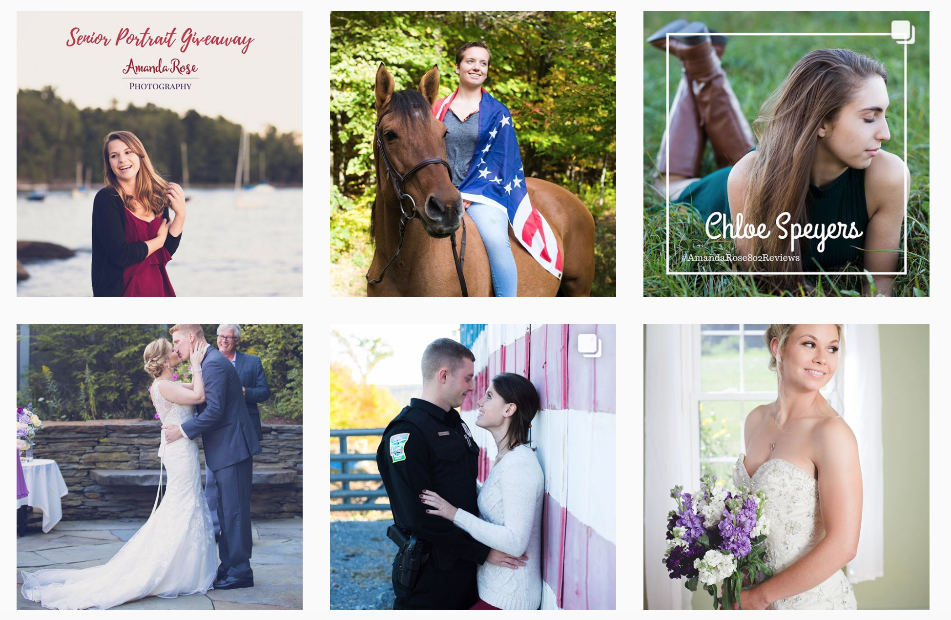 Amanda Rose Photography - Social Media Client