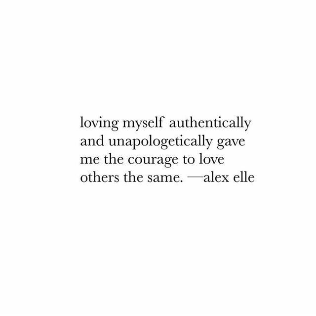 We are LOVING this from @alex_elle ✨👊 Unapologetically loving yourself  always ALWAYS inspires others to do the same! #lovethyself #thegiftofgrowth
