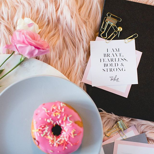 Because Sundays are 👌 for personal growth and 🍩's....#shewhois #thegiftofgrowth