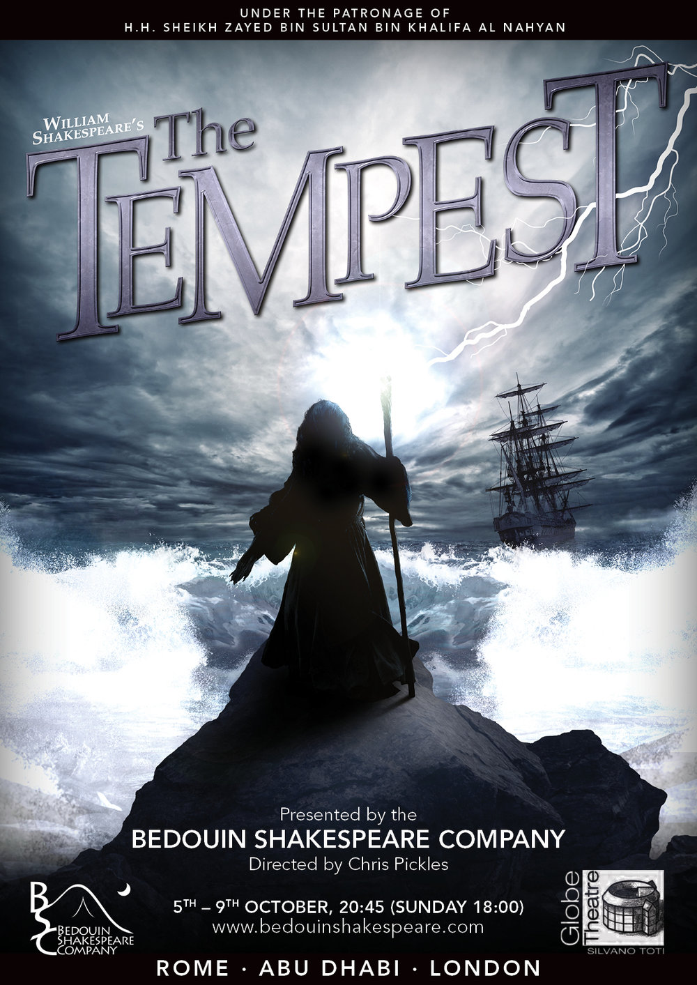 Bedouin Shakespeare Company Tempest Poster 2016