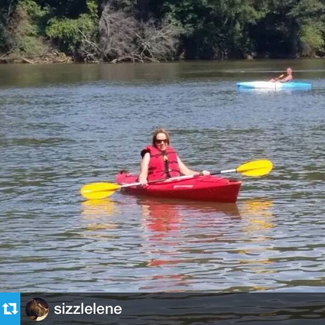 We loved meeting so many great people at #tawbafest today!  from @sizzlelene --- My first time in a kayak...definitely won't be my last!! #kayak #catawbariver #tawbafest #somethingnew