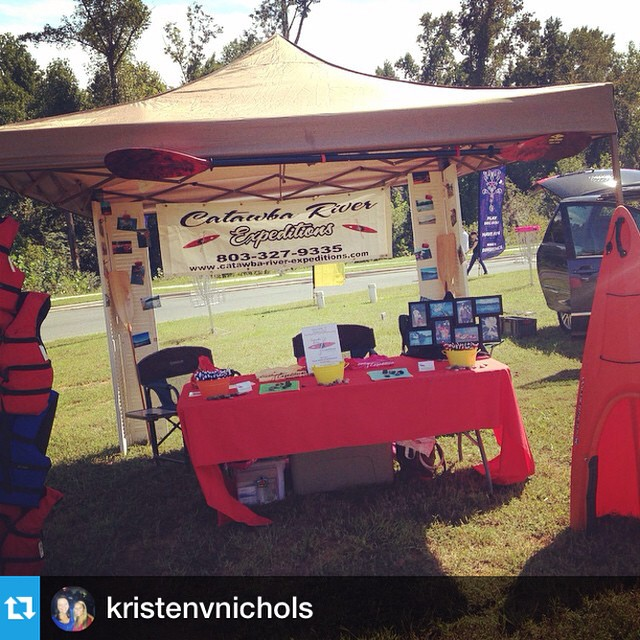 #Repost from @kristenvnichols with @repostapp --- Working with @catawbariverexpeditions today at #tawbafest #riverwalk