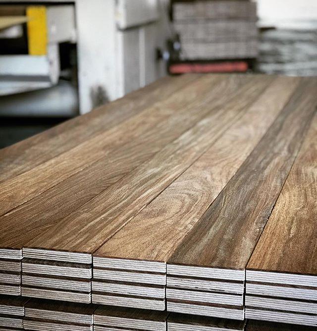 Engineered #Cumaru flooring blanks being sanded here @oindcorp - #oindcorp #premiumwoodproducts #hardwoodflooring #engineered