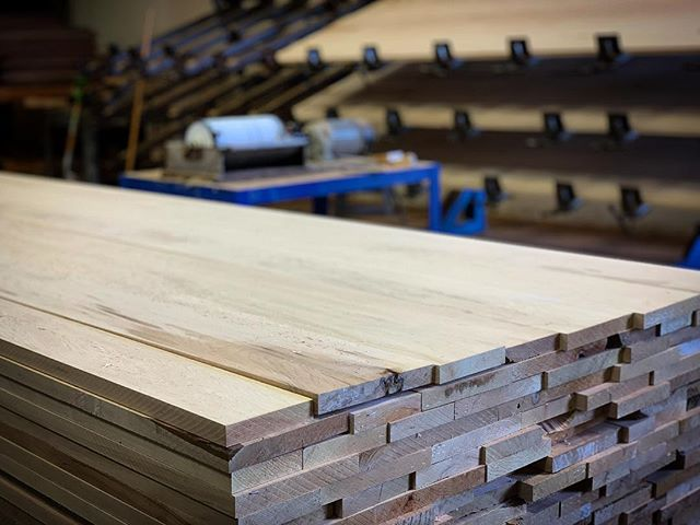 Hard Maple glue up panels in production here @oindcorp