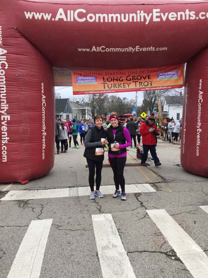 Renee & her Mom After Turkey Trot 2016