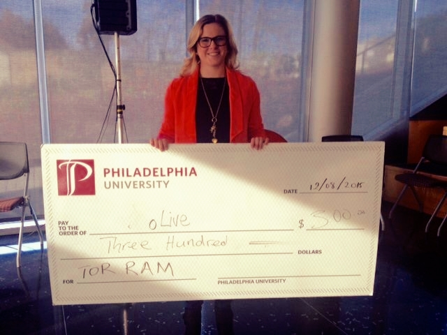 December 2015 - Renee won our first competition at Philadelphia University.