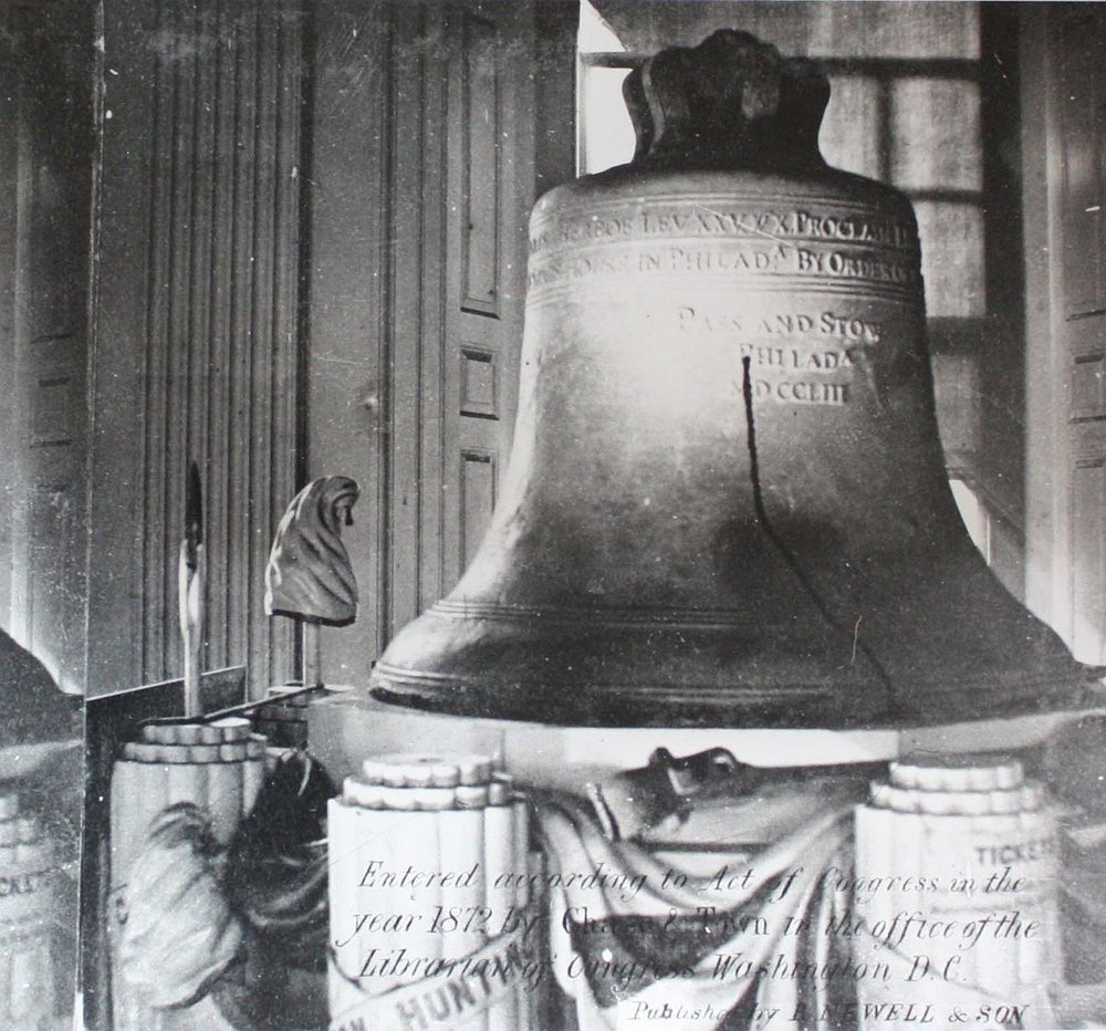 The Liberty Bell Photo Credit: Wehwalt. Copyrighted 1872 [Public domain], via Wikimedia Commons