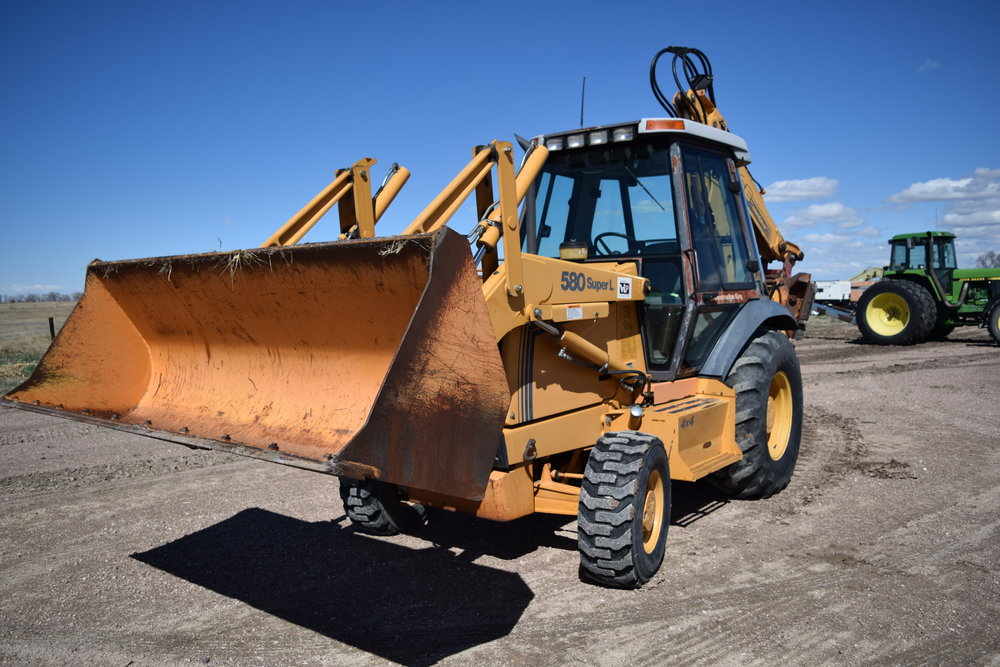 Case 580 Super L 4x4 backhoe & loader, 4,279 hrs., extenda hoe