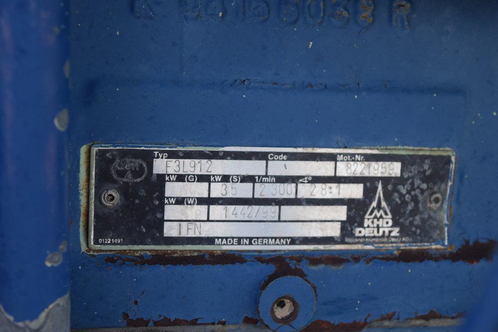 """4"""" pump Duetz diesel w/ trailer"""